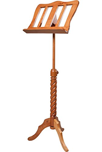 (ROOSEBECK MUSIC STAND SINGLE TRAY SPIRAL RED CEDAR WOOD)