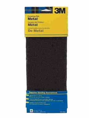 - 3M 7414NA Hand Sanding Metal Finishing Pad, 4.375 in by 11 in, Maroon, Medium
