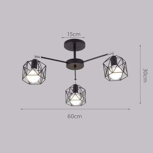 Lx.AZ.Kx E27 Pendelleuchte Modernes, minimalistisches Multihead Wohnzimmer Hängeleuchten Schlafzimmer Restaurant Cafe Anhänger Lightss, Leiter