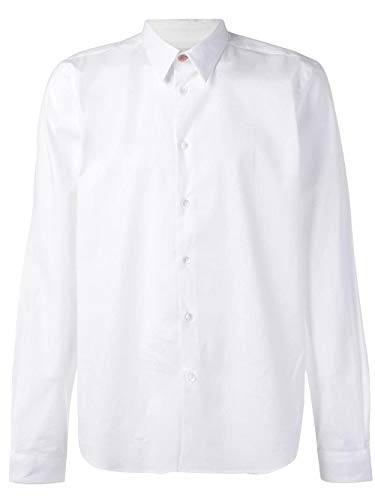 Paul Smith Long Sleeve Mens Tailored Shirt in White Large