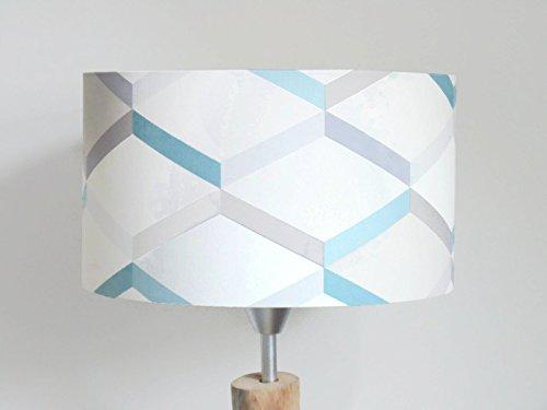 lampenschirm geometrische muster skandinavisch blau grau luminary zimmer baby zylinder runde idee geschenk kind dekoration geburt geburtstag muttertag