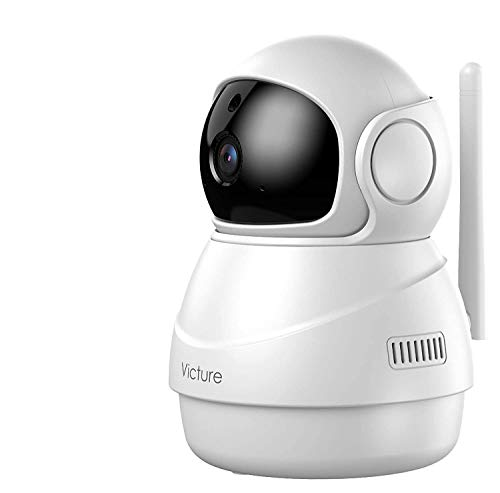 [2021 Upgraded] Baby Monitor, Victure 1080P WiFi Indoor Camera, Baby Monitor with Camera, Motion/Sound Detection, Night Vision,Two-Way Audio, SD Card/Cloud Storage, Works with Alexa