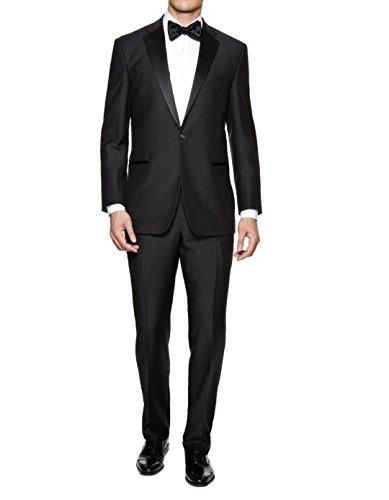 Braveman Mens Slim Fit Notched Lapel 2 Piece Tuxedo, Black, Size 46Rx40W Complete Black Tuxedo