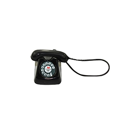 Elevin(TM) 1/12 Miniature Scene Model Dollhouse Accessories Mini Telephone Phone Kid Toy (Black) from Elevin(TM) _ Toys & Joker