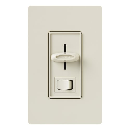 Lutron SELV-300P-LA Skylark 300-Watt Single Pole Electronic Low-Voltage Dimmer with On/Off Switch, Light (Electronic Dimmer)
