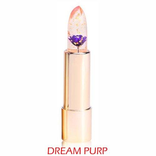 Pro Kailijumei Flower Jelly Lipstick Moisturizer Long Lasting Nutritious Lip Balm Lips Magic Color Temperature Change with Mirror (Dream Purple)