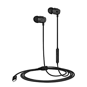 PALOVUE Earflow in-Ear Lightning Headphones Magnetic Earphones MFi Certified Earbuds with Microphone Controller Compatible iPhone X/XS/XS Max/XR iPhone 8/P iPhone 7/P (Metallic Black)