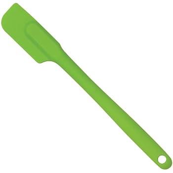 HIC Silicone Spatula, Commercial Grade Heat Resistant Flexible Non-Stick Slim Spatula, Kiwi