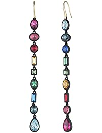 """Confetti And Cocktails"" Multi Stone Mismatch Large Earrings"