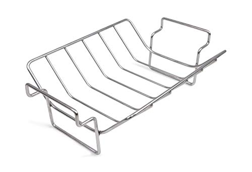 Mydracas BBQ Rib Rack for Smoking and Grilling Roast Rack 100% Stainless...