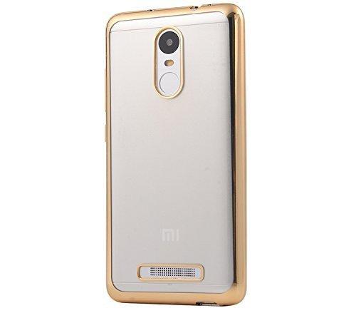 Xiaomi RedMi Note 3 Back Cover   Transparent Gold Slim