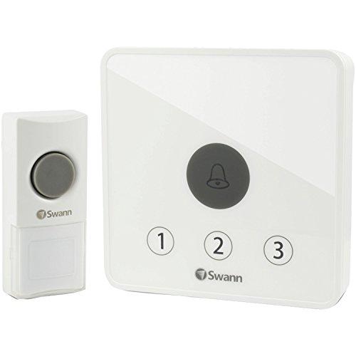 Swann Home Doorbell Kit Alert Ring Detector, White (SWADS-DOORBK-GL)