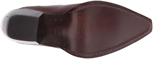 FRYE Womens Shane Embroidered Short Western Boot Bordeaux Y1e9K