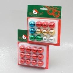 Kurt Adler Petite Treasure Glass Ball 12 Piece Christmas Multi Colored - Treasure Ball