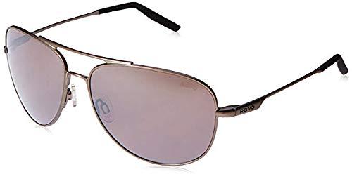 Revo Windspeed RE 3087 00 GY Polarized Aviator Sunglasses, Gunmetal/Graphite, 61 ()
