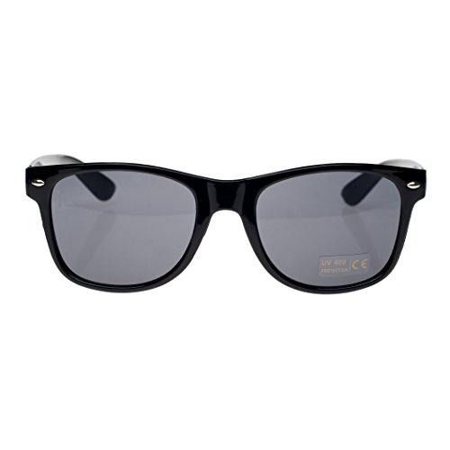 negro con Gafas diseño sol 4sold ahumados ochentero unisex cristales Negro Black Black TM de q6pIxpwPU