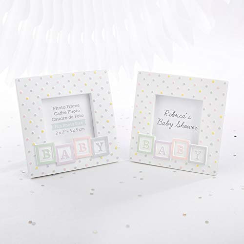 - Kate Aspen Baby Blocks Shaped Picture Frame/Place Card Holder - Set of 24 - Perfect Baby Shower Favor & Decoration