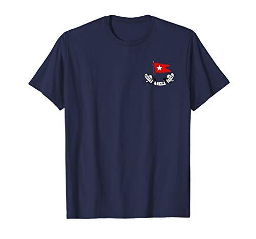 (Titanic White Star Line Red Flag Star Logo (Front & Back))