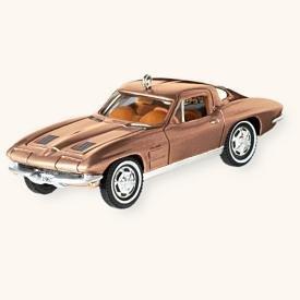 (Hallmark QXI1001 1963 Corvette Sting Ray Coupe Repaint of 2003 Classic American Cars #13 2008 Keepsake Ornament )