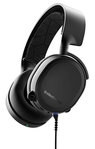 🥇 SteelSeries Arctis 3 Bluetooth – Auriculares de Juego con Cable e Inalámbricos para Nintendo Switch