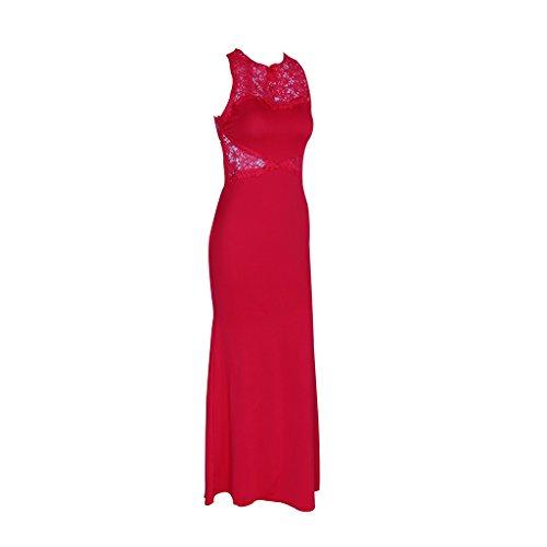 in Rosso WANG maniche color donna maniche senza Abito Rosso S pizzo dimensioni Colore con Vestiti merino da OA80xOw