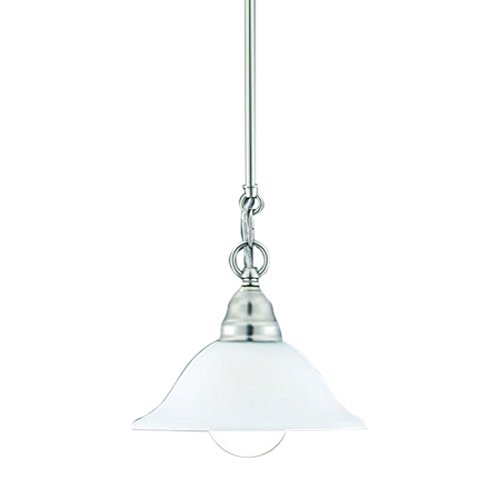 Thomas Lighting M251042 Mini Pendant Light with White Opal Glass Shade, 43