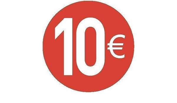 10€ EURO - Pack de 200-30mm rojo - Precio Pegatinas: Amazon.es ...