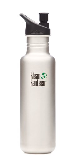 Klean Kanteen 27 -Ounce Classic, Poly Sport Cap 2.0 Stainless Steel Water Bottle