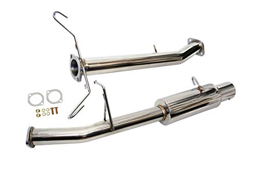 Mazda Turbo Exhaust System - CarXX Catback Exhaust System Compatible with Mazda RX-7 FC3S Turbo II 1.3L 13B 1986-1995 Stainless Steel 4 Inch Tip Exhaust System with Gaskets and Hardware