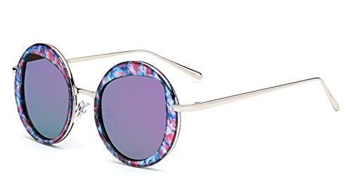 Moda CMCL de Mirror Caminante para Gafas Capullos Reflective Gafas Ultra de Sol de Circular Mujer Purple Light Sol XqqEr