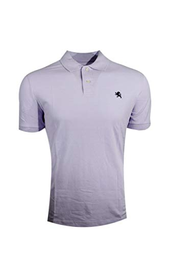 Express Mens Modern Fit Pique Polo Shirt (Small, Light Purple (Black Pony))