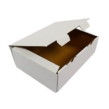 as Caja de 90 nuevo regalo de cartón plegables Cajas Maxibrief Cajas Post Mail Box Blanco Domicilio.: Amazon.es: Oficina y papelería