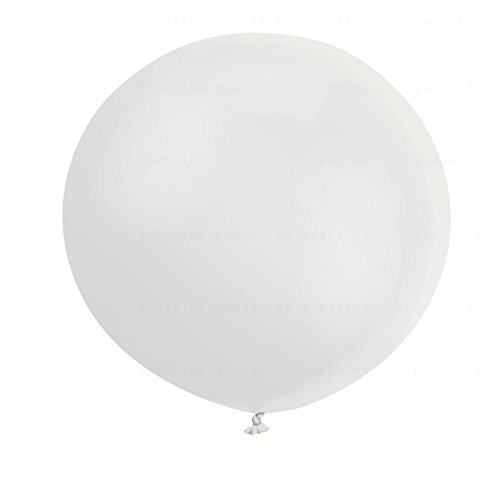 36 Inch Big Balloon Helium Giant White Balloons, 6ct