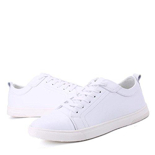 Hombres Zapatillas Zapatos deportivos Primavera y verano Popular Plano Ocio correr PU White