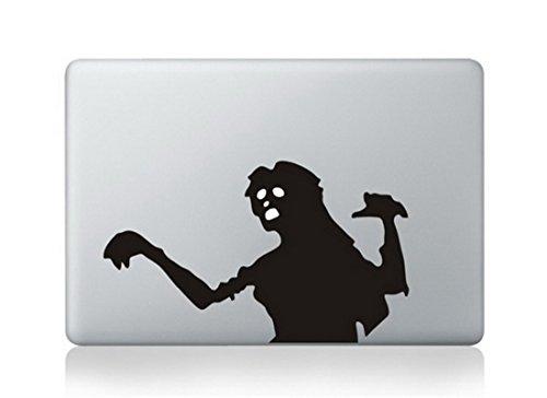 (Zombie Ghost Scary Halloween Fun Cartoon Apple Mac Sticker Skin Decal)