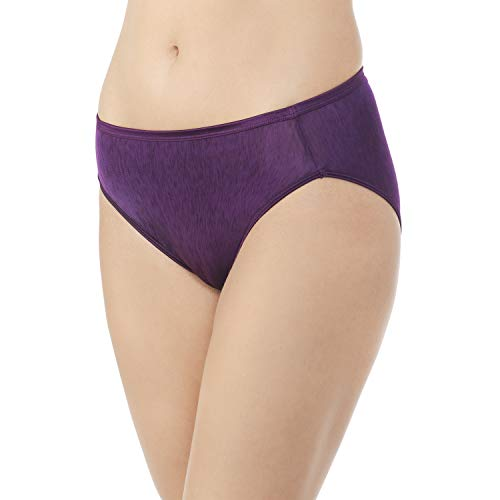 Vanity Fair Women's Illumination Hi Cut Panty 13108, Sangria, Medium/6