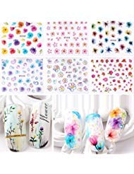 Warm Girl 20pcs Color 3D Flower Design Nail Sticker Decal DIY Nail Art Decoration Kit