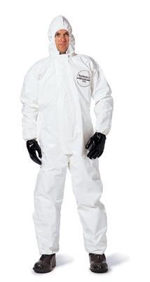 Dupont Personal Protection SL127BWH2X00 2X White SafeSPEC 2.0 12 mil Tychem SL Saranex 23-P Film Laminated Chemical Protection Coveralls, English, 15.34 fl. oz, Plastic, 1'' x 1'' x 1''