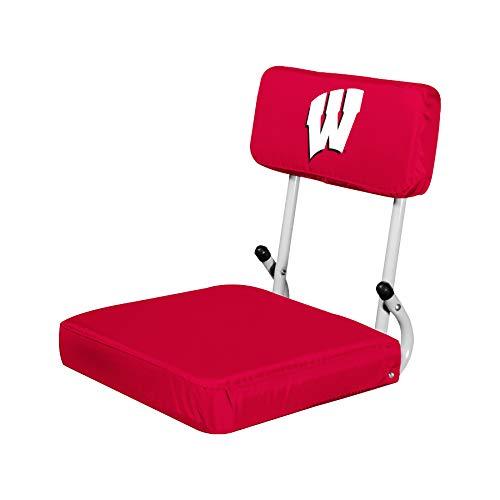 Logo Brands NCAA Wisconsin Badgers Hard Back Stadium Seat