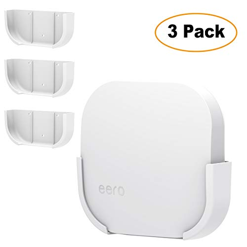 Wall Mount Bracket for Eero, For eero Wifi Wall Mount Holder by Deeroll,Improve Your eero Pro Home WiFi System WiFi Signal,Simple Designed Accessories Bracket Stand