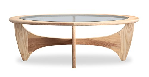 Kardiel Mid-Century Modern G-Plan Plywood Coffee Table, Natural Ash Wood