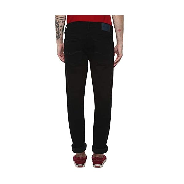 Numero Uno Mens 5 Pocket Coated Jeans 2021 July Pattern: Coated Color: Black