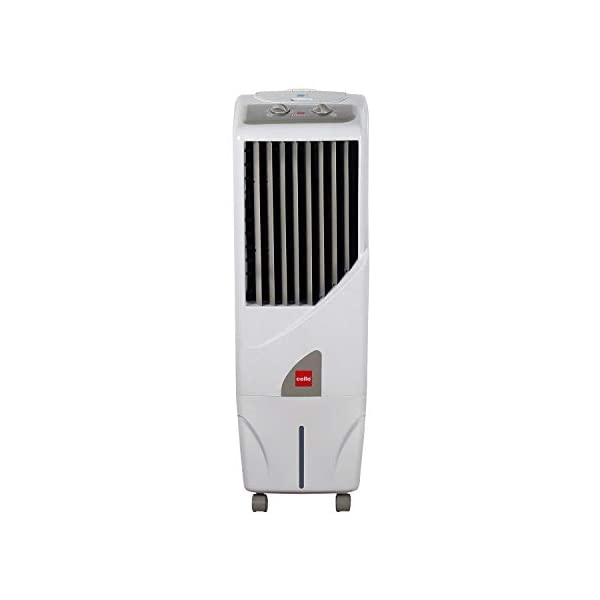 Cello Tower 15 Ltrs Tower Air Cooler (White) 2021 July Capacity: 15 Litres; Ideal for room size of upto 160 Sq Ft. Product dimensions (LxBxH): 34.0 cm x 36.0 cm x 88.0 cm Powerful Mega Size Tower Cooler With International Styling