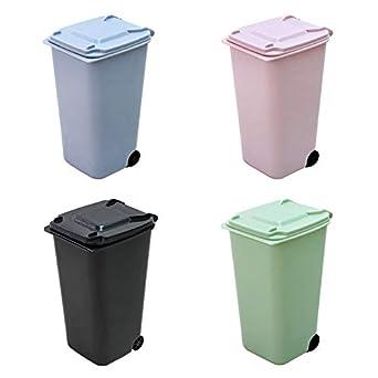 Mini cubo de basura port/átil para coche papelera port/átil para coche SNMIRN cubo de basura con tapa soporte para papelera de coche