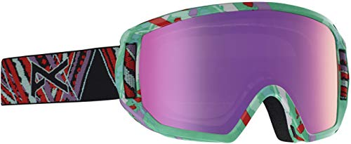 Anon Kids' Relapse Jr Snowboard Goggle with MFI Mask, Spring Frame Pink Amber ()