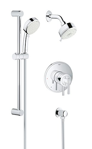 Grohe 35055001 Shower Set Pressure Balance Valve, Starlight ()