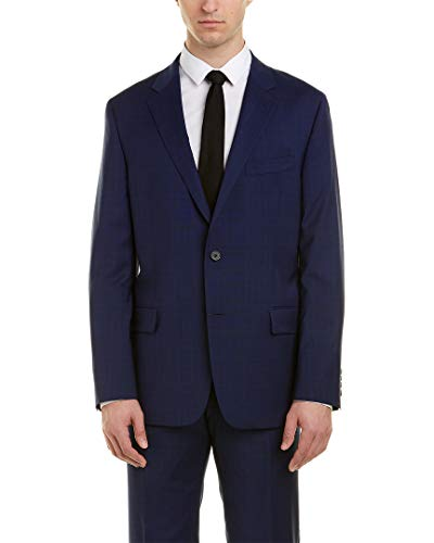 Hickey Freeman Mens Milburn Ii Wool Suit, 40R ()