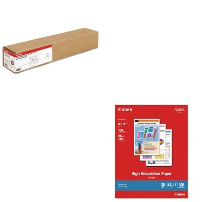 - KITCNM1033A011CNM1290V133 - Value Kit - Canon Scrim Vinyl Banner (CNM1290V133) and Canon High Resolution Paper (CNM1033A011)