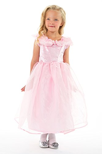 Little Adventures Deluxe Pink Butterfly Princess Dress Up Costume For Girls - Medium (3-5 yrs)