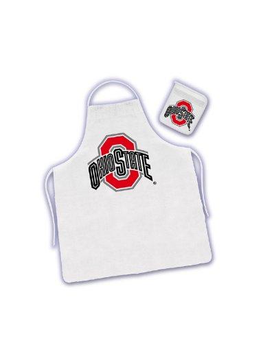 NCAA Ohio State Buckeyes Tail Gate Kit Apron & Mitt